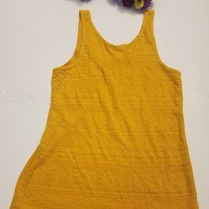 Mossimo Tribal Embroidered Golden Tank Top Shirt L